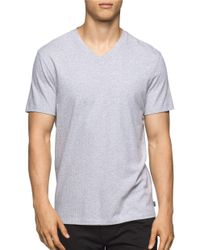 Calvin Klein | Gray Heathered Dotted Tee for Men | Lyst
