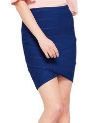 Miss Selfridge | Blue Pull-on Bandage Skirt | Lyst