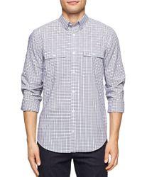Calvin Klein | White Checked Sportshirt for Men | Lyst