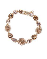 Givenchy - Metallic White Metal And Glass Stone Bracelet - Lyst