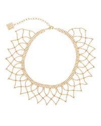 Anne Klein - Metallic Crochet Chain Wide Choker Necklace - Lyst