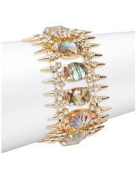 ABS By Allen Schwartz | Metallic Abalone Spike Bracelet | Lyst