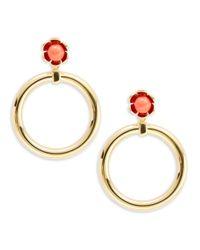 Trina Turk - Metallic Floral Loop Drop Earrings - Lyst