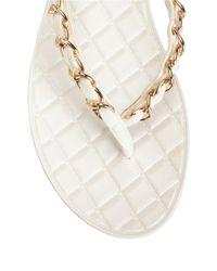 Aerosoles | White Isabella Chain Link Strappy Sandals | Lyst