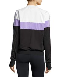 Bench - Black Colorblocked Track Jacket - Lyst