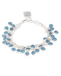 Anne Klein | Metallic Three-row Shaky Beads Bracelet | Lyst