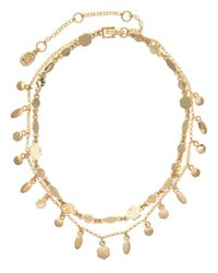 Ivanka Trump - Metallic Two-row Stone Accented Choker Necklace - Lyst