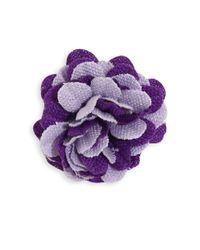 Hook + Albert - Purple La Young Lapel Flower - Lyst
