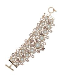 Givenchy - Metallic 2mm-14mm Faux Pearl Drama Flexible Bracelet - Lyst