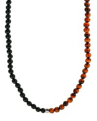 Effy | Black 925 Tiger Eye And Onyx & Sterling Silver Necklace | Lyst