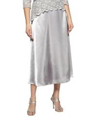 Alex Evenings   Gray Charm T-length Skirt   Lyst