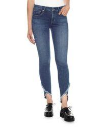 Joe's Jeans | Blue Frayed Skinny Jeans | Lyst