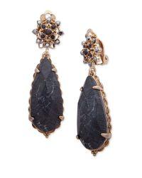 Jenny Packham - Black Pear Drop Earrings - Lyst