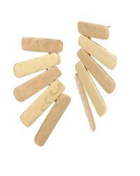 Robert Lee Morris - Metallic Linear Stick Chandelier Earrings - Lyst