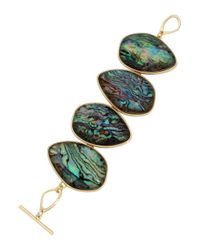 Kenneth Cole | Green Abalone Goldtone Bracelet | Lyst
