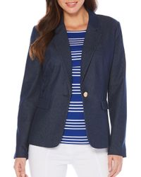 Rafaella | Blue Denim Style Blazer | Lyst