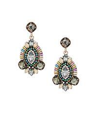 Cara - Metallic Beaded Drop Earrings - Lyst