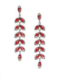 Cara | Tiered Petal Drop Earrings | Lyst