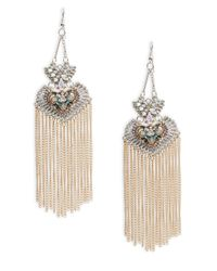 Noir Jewelry - Metallic Embellished Drop Earrings - Lyst