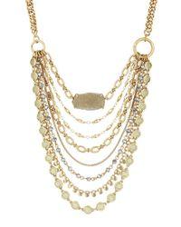 Lucky Brand - Metallic Lost And Found Crystal & Semi-precious Druzy Layer Bib Necklace - Lyst