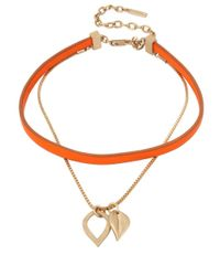 Kenneth Cole - Metallic Textured Metals Leaf-like Pendant & Choker Necklace - Lyst