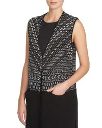 1.STATE | Multicolor Sleeveless Jacquard Cardy Vest | Lyst