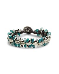 Uno De 50 | Green Sunrise Leather Strands Bracelet | Lyst