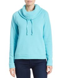 Lord & Taylor | Blue Cowlneck Pullover | Lyst