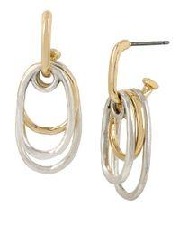 Robert Lee Morris | Metallic Shaky Two-tone Oval Drop Earring | Lyst