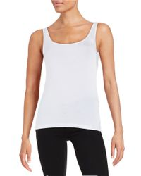 Lord & Taylor   White Petite Iconic Fit Tank Top   Lyst