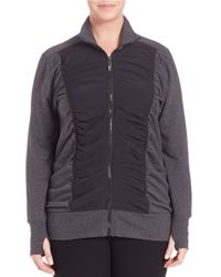 Marc New York | Multicolor Ruched-front Thumbhole Jacket | Lyst