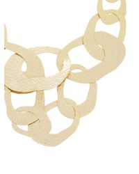 BCBGMAXAZRIA | Yellow Hammered Geometric Necklace | Lyst