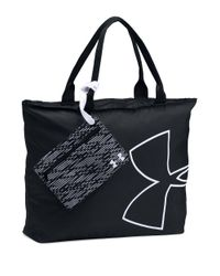 Under Armour   Black Big Logo Tote Bag   Lyst