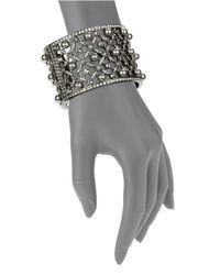 Oscar de la Renta | Metallic Beaded Lattice Bracelet | Lyst