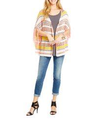 Jessica Simpson | Multicolor Rouge Cozy Poncho Cardigan | Lyst