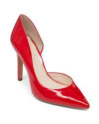 Jessica Simpson | Red Claudette Stiletto D'orsay Pumps | Lyst