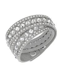 Swarovski   Gray Crystal Slake Wrap Bracelet   Lyst