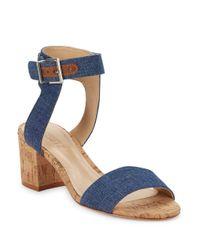 Schutz | Blue Jinger Sandal Heels | Lyst