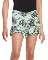 Free People | Natural Floral Flutter Shorts | Lyst