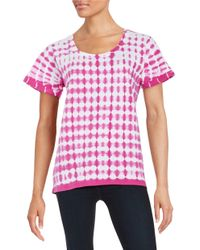 Lord & Taylor   Pink Tie-dyed Tee   Lyst