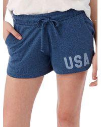 Alternative Apparel - Blue Cotton-rich Runner Shorts - Lyst