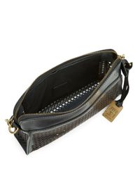 Frye - Black Peyton Perforated Leather Crossbody - Lyst