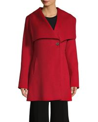 Laundry by Shelli Segal - Red Wing-collar Walker Coat - Lyst