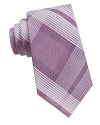 Calvin Klein | Purple Striped Silk Tie for Men | Lyst
