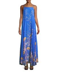 Free People - Blue Floral Maxi Dress - Lyst
