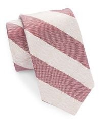 Cole Haan | Red Narrow Striped Silk Tie for Men | Lyst