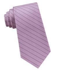 Calvin Klein | Purple Seed-stripe Silk Tie for Men | Lyst