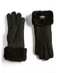 Ugg - Black Australia Turn Cuff Gloves - Lyst