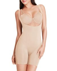 Wacoal | Natural Smooth Complexion Torsette Mid-thigh Bodysuit | Lyst