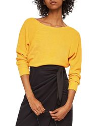 Mango - Yellow Nudoso Jersey Sweater - Lyst